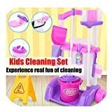 Topaty Kids Cleaning Set For Toddlers Up to Age 3 Includes 8 Cleaning Toys Housekeeping Accessories Cleaning Pretend Play Toys