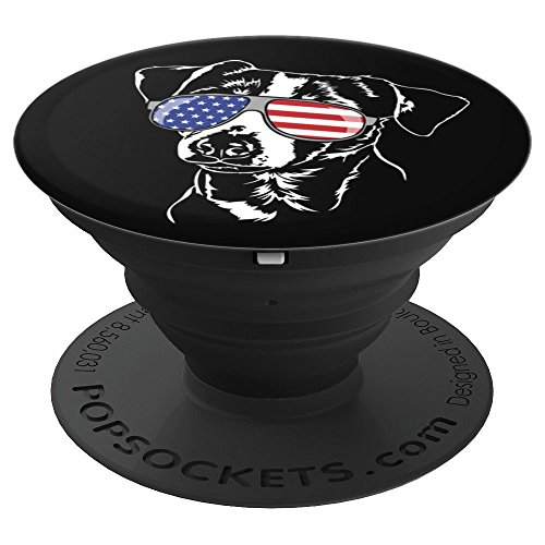 Funny Proud Jack Russell Terrier Patriotic dog breed gift - PopSockets Grip and Stand for Phones and Tablets