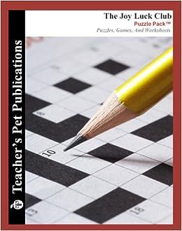 The Joy Luck Club Puzzle Pack Teacher Lesson Plans Activities