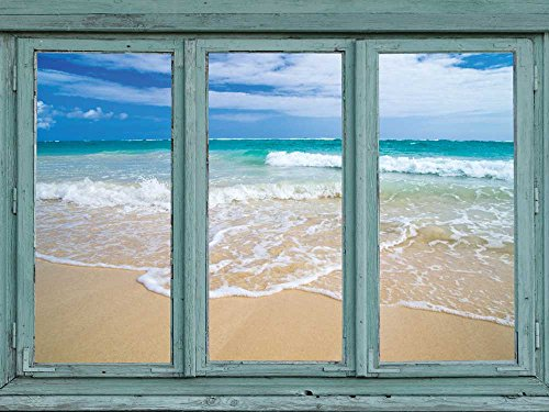 Serene isloated beach with gentle lapping waves Sand and Sun Wall Mural