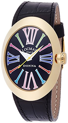 LOCMAN watch change Donna quartz belt 3 with this ladies 0410 04102NBKNCO1PSK-P-F Ladies