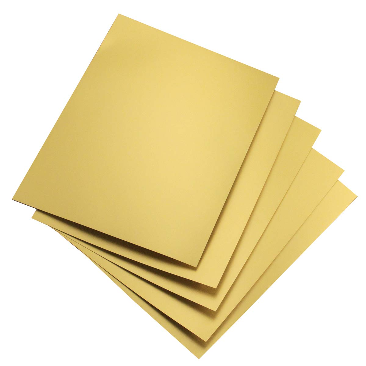 Hygloss Products Metallic Foil Board Sheets-8.5 x 11 Inches - Matte Gold, 100 Pack by Hygloss
