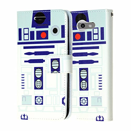 Galaxy J3 Emerge Wallet Case, Galaxy Express Prime 2 Case, DURARMOR Star Wars R2D2 Astromech Droid Robot PU Leather Folio Wallet Case with ID Credit Card Cash Slots Flip Stand Cover, R2D2
