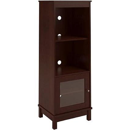 Amazoncom Media Storage Bookcase Tower Multimedia Organizer Shelf