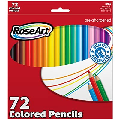 RoseArt Colored Pencils 72-Count Assorted Colors Packaging May Vary (CYM79) : Childrens Colored Pencils : Office Products