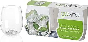 Govino 12 Ounce Dishwasher Safe Series Wine/Cocktail Glasses (Set of 2)