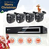 anni 1080N HD Indoor Home Security Camera System CCTV Video Monitoring Surveillance DVR Kit with1TB HDD, 4 x 1080p Cameras: 1 x PIR Sensor, 1 x Gas Detector, 1 x Siren Alarm, 1 x Normal Camera For Sale