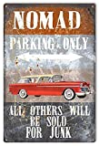 Liz66Ward Metal Sign Nomad Parking Only Classic Red Chevy Nomad Inch Aluminum Sign by Artist Phil Hamilton
