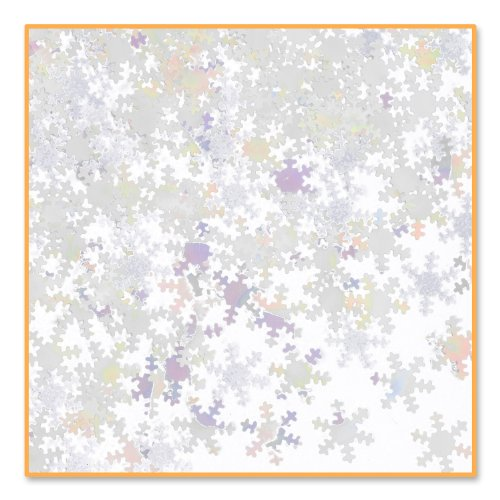 Iridescent Winter Costumes (Beistle Iridescent Snowflakes Confetti)