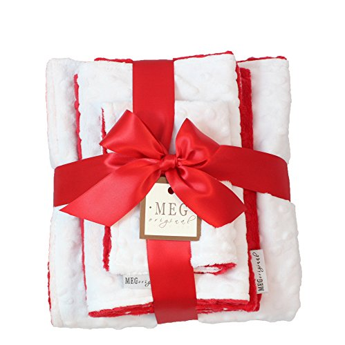 MEG Original Red & White Minky Dot Baby Shower Gift Set 937