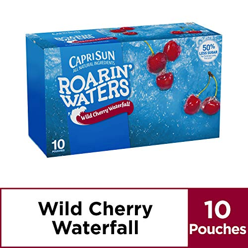 Capri Sun Roarin' Waters Wild Cherry Juice Drink (6 oz Pouches, 10 Count)