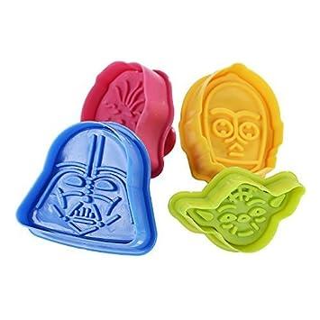 GWHOLE Star Wars Moldes de tortas y Galletas para decoración de Pasteles(4 Unidades): Amazon.es: Hogar