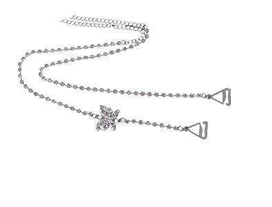 Tirantes de sujetador collares y transparente con brillantes de una fila con mariposa tamaño ajustable detalles - un par: Amazon.es: Joyería