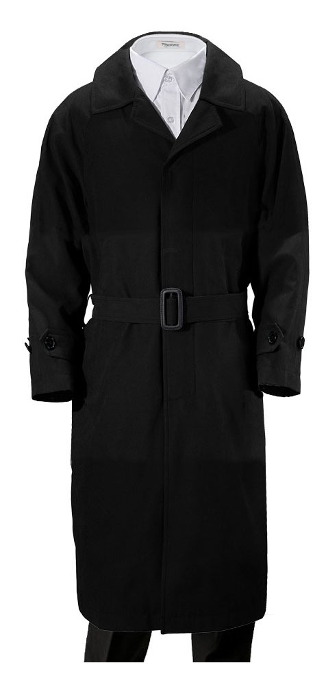 Franco Palino Big Boys' Black Suede Single Breasted Trench Coat Rain Coat with Belt & Hood Great for Parties, Holidays, Formal Events and All occasions10
