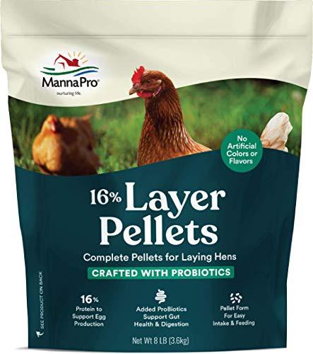 Manna Pro 16 Percent Layer Pellets with Probiotics, 8 lb