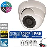 Cheap Ezdiyworld-HD-CVI 1080p 2.4MP Motorized Zoom Auto Focus 2.8-12 VF Dome Camera Sony CMOS