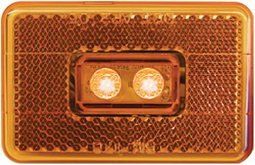 Peterson Clearance Side Marker Light for RV Trailer Amber Camper