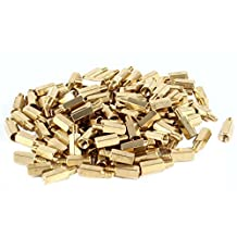 100 Pcs PC PCB Motherboard Brass Standoff Hexagonal Spacer M3 9+4mm