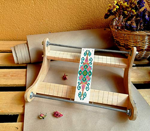 Professional Solid Wood Bead Weaving Frame, Bead Loom Wooden Frame, Loom Beading Wood Frame, Beading Tool, Bead Loom Jewelry Making Tool from Bead-Works & Handmade Supply