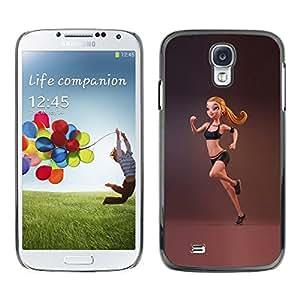 FlareStar Colour Printing Sport Fitness Fit Woman Gymnast Running cáscara Funda Case Caso de plástico para SAMSUNG Galaxy S4 IV / i9500 / i9515 / i9505G / SGH-i337