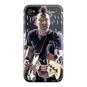 Shock-Absorbing Cell-phone Hard Cover For Iphone 4/4s With Custom Nice Blink 182 Band Image AnnaDubois