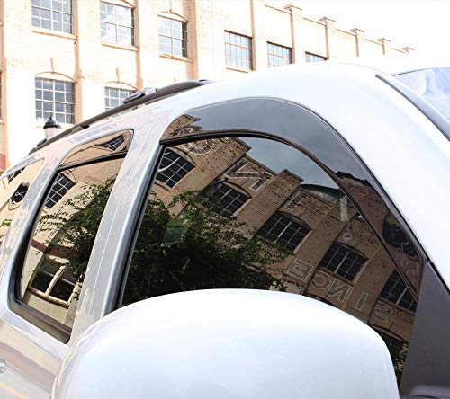 Auto Ventshade 896081 Low Profile Dark Smoke Ventvisor Side Window Deflector, 6-Piece Set for2019 Chevrolet Blazer ()