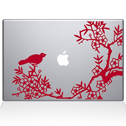 The Decal Guru 0164-MAC-13A-DR Asian Blooms and Woodland Motifs Vinyl Sticker, 13