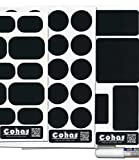 Cohas Chalkboard Labels in Various Shapes for Travel and Bath Containers includes Liquid Chalk Marker and 51 Labels, Fine Tip, White Marker