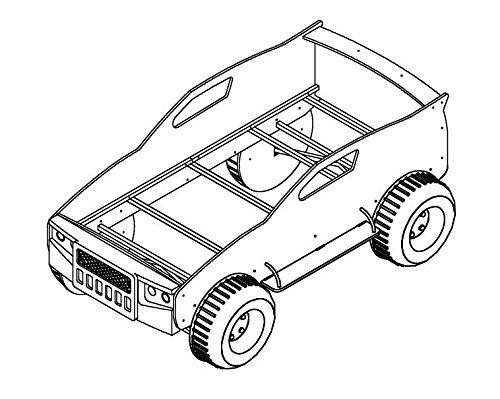 Stella Trading Jeep Autobett Holz Holz Holz Rot 211 x 120 x 81 cm c83465