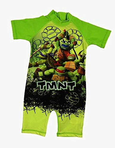 All In One Suit - Boys Character All In One Surf Suit Good Coverage From UV Rays 1.5y To 4-5y (Teenage Ninja Turtles, 2-3 Years)