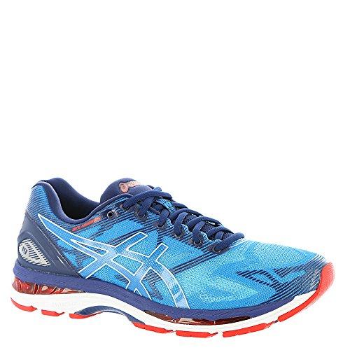 ASICS Men's Gel-Nimbus 19 Running-Shoes, Diva Blue/White/Indigo Blue, 11 Medium US