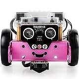 Makeblock DIY mBot 1.1 Kit (Bluetooth Version) - STEM Education - Arduino - Scratch 2.0 - Programmable Robot Kit for Kids to Learn Coding & Robotics - Pink
