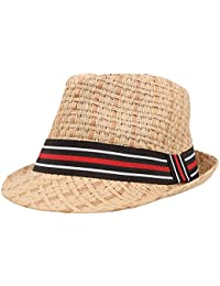 Unisex Summer Cool Woven Straw Fedora Hat   Stylish Hat Band 34a0350689ca