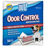 quilted dog pad - OUT! Odor Control Quilted Dog Pads, 21 x 21, 50 ct