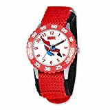 Marvel Spiderman Kids Red Velcro Band Time Teacher Watch