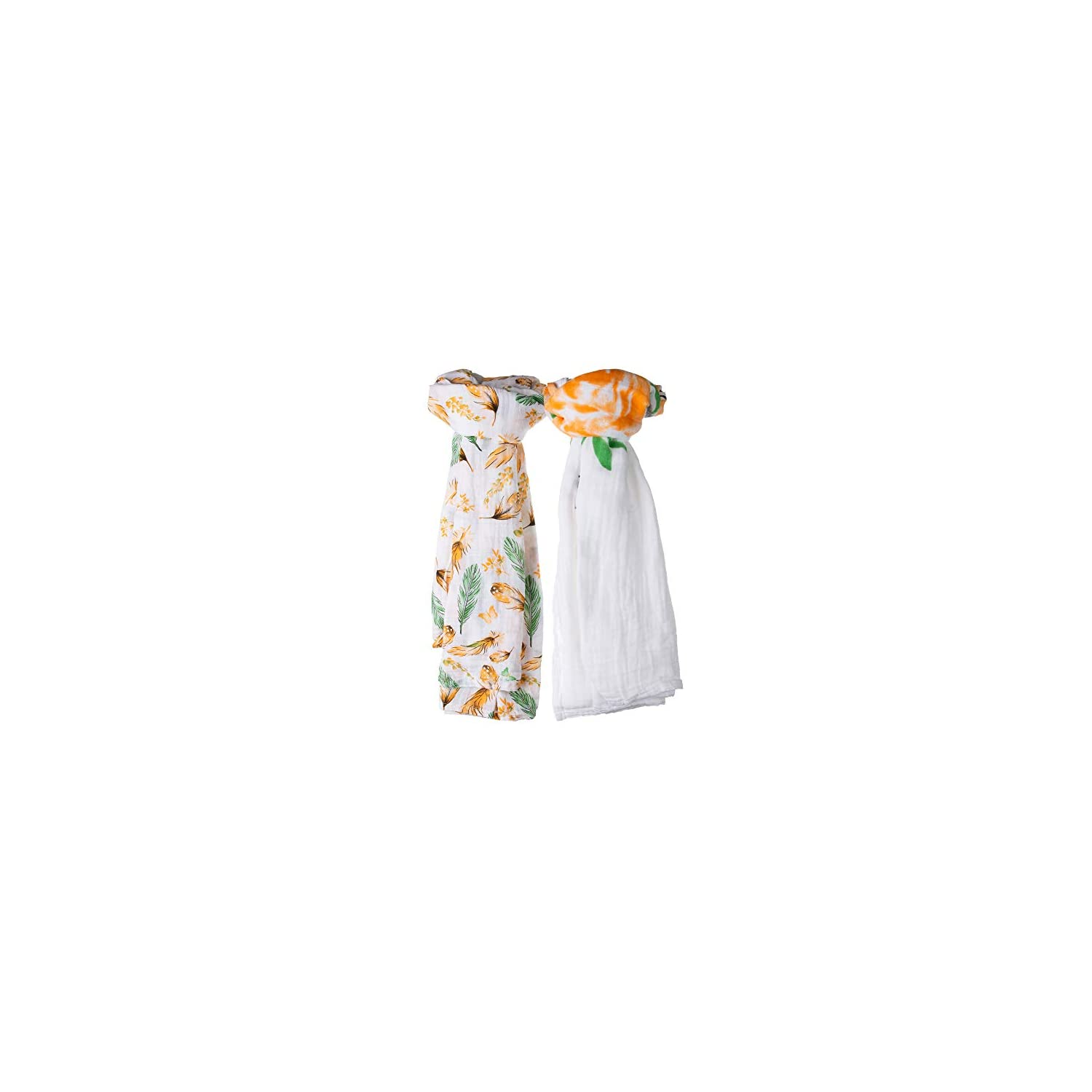 Millian Baby Muslin Swaddle Blankets for Boys and Girls (2-Pack) Large, Breathable, Cute Comfort | Swaddling for Infants, Newborns, Babies | Nursery, Crib, Stroller Use