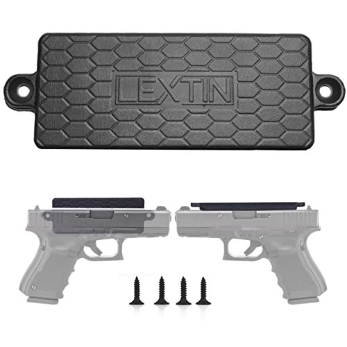 Treestand Gun Holder (Magnetic Gun Mount With Adhesive Backing-Rubber Coated 43lb Rated Magnet For Vehicle And Home - Concealed Holder For Handgun, Rifle, Shotgun, Pistol, Revolver, Magazine- Holster - Firearm Accessory)