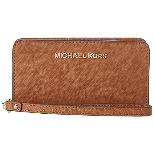 Michael Kors Jet Set Travel Slim Tech Wristlet (Acorn) by Michael Kors