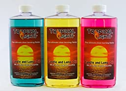 Candle and Lamp Oil (Set of 3) Spring Collection