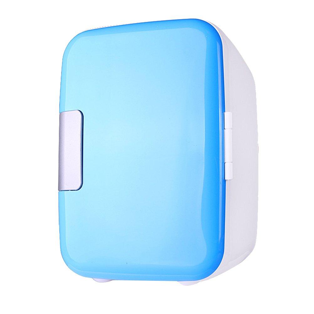 VORCOOL 4L Mini Refrigerator Cooler and Warmer Portable Mini Vehicle Refrigerator (Blue) 0316E9TCQ3GQC21AGI3T