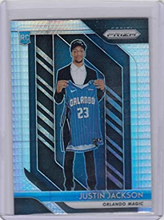 Amazon.com  2018-19 Panini Prizm Prism  119 Justin Jackson  119 NM Near  Mint RC Rookie  Collectibles   Fine Art dcfe43024