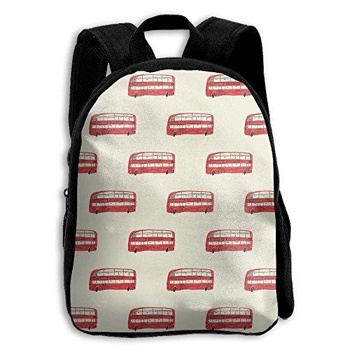 London Bus Kid Backpack, Baby Boys Girls Toddler Pre School Backpack Children Backpacks Bags Lightweight - Mercedes 600d
