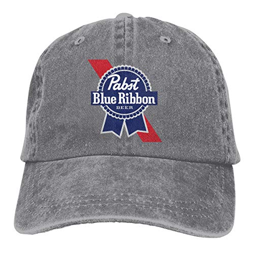 Denim Baseball Caps Blue Ribbon King of Beer Adult Vintage Washed Cotton ()