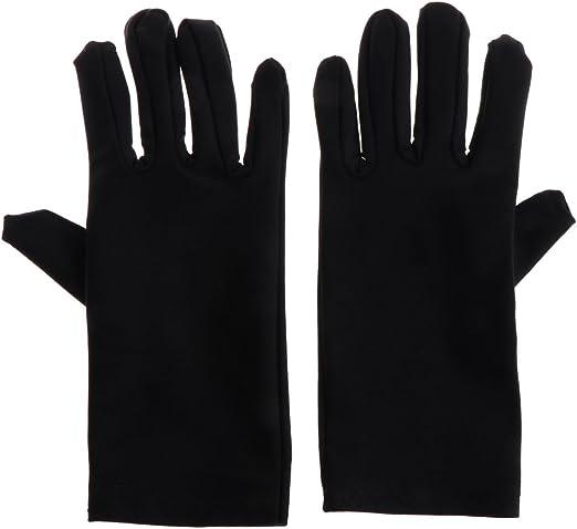 ruiruiNIE Guantes de joyería Inspección Negra con Mezcla Suave de algodón Lisle para protección Laboral (Negro): Amazon.es: Hogar