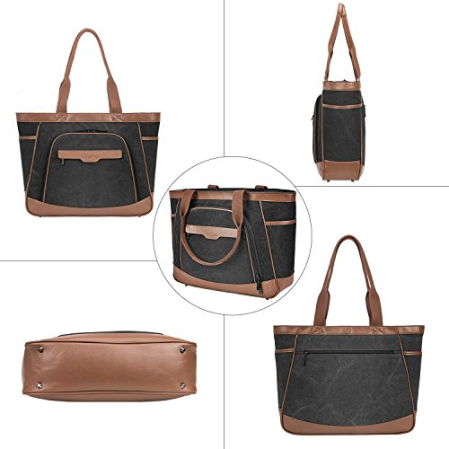 Mujer marrón Bolso Lona Fostak De Negro Tela Para PT7wHqn