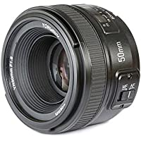 YONGNUO YN50 50mm F1.8 Lens Large Aperture Auto Focus AF Lens for Nikon DSLR Cameras + CEARI MicroFiber Cloth