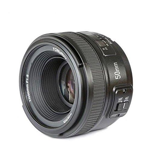YONGNUO YN50 50mm F1.8 Lens Large Aperture Auto Focus AF Lens for Nikon DSLR Cameras + CEARI MicroFiber Cloth by Yongnuo