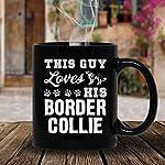 Loves Border Collie Tea Cup, Cold Brew Coffee Mug 11 oz 5