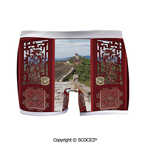 SCOCICI Printed Boyshort Panties Gates with Ornament Great Comfort Quick Dry ()