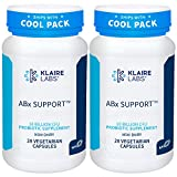 Klaire Labs ABX Support Probiotic - 10 Billion CFU Supplement for Support During Antibiotic Therapy, Hypoallergenic & Non-Dairy (2 Pack, 28 Capsules)